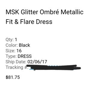 MSK Dresses - MSK Glitter Ombré Metallic Fit   Flare dress c59ee50e169e